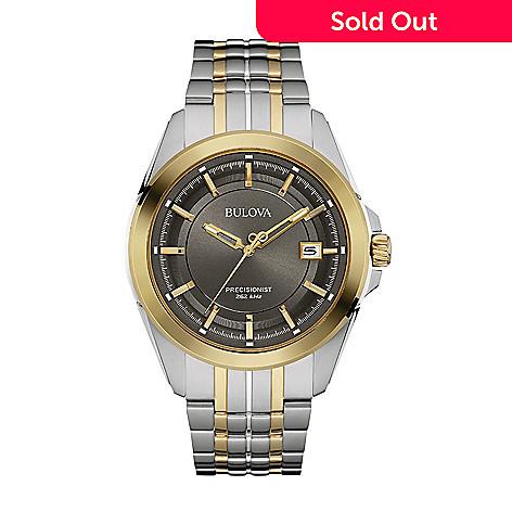 33a23a58e 656-857- Bulova Men's 42mm Precisionist Quartz Two-tone Stainless Steel  Bracelet Watch
