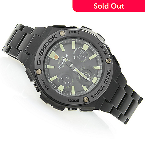Casio Men S 48mm G Shock G Steel Solar Quartz Ana Digi Multi