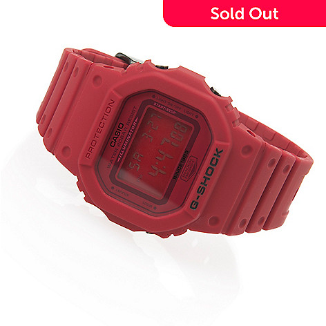 purchase cheap 26963 4f403 656-933- Casio Men s Rectangular G-Shock 35th Anniversary Red Out Quartz  Digital