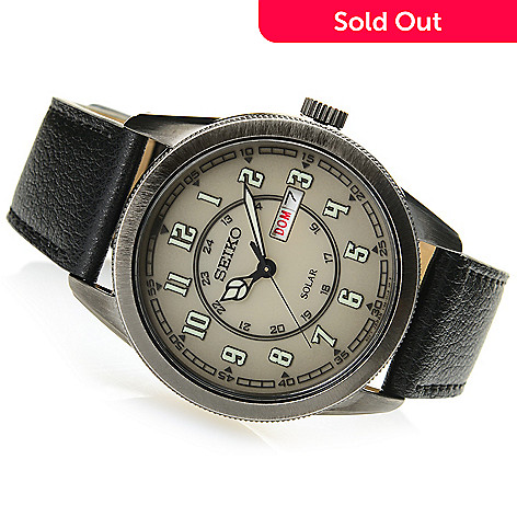 9a852a6dc 656-945- Seiko Men's 44mm Recraft Series Solar Quartz Strap Watch