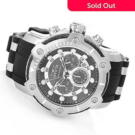 9ae5c6e9a 656-972- Invicta Men's 50mm Bolt Quartz Chronograph Silicone Strap Watch