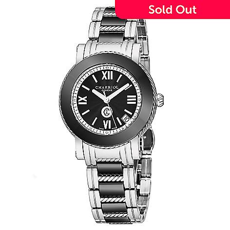 aabf003bf81 658-675- Charriol Women s Parisi Swiss Made Quartz Stainless Steel    Ceramic Bracelet Watch