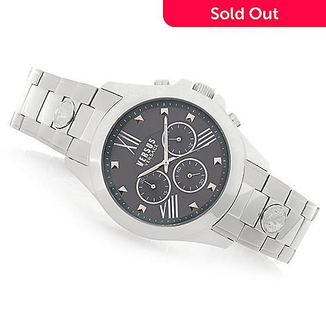 ef6fa2cc9bf 658-793- Versus Versace Men s 44mm Chrono Lion Quartz Chronograph Stainless  Steel Bracelet Watch