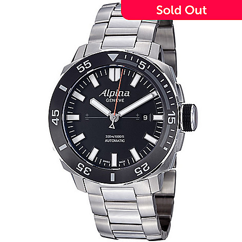 Alpina Mens Mm Adventure Swiss Made Automatic Date Stainless - Alpina automatic watch