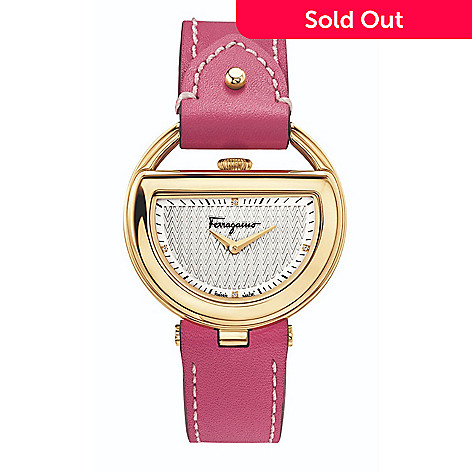 9e6264d91c6 659-481- Salvatore Ferragamo Women's Buckle Swiss Made Quartz Pink Leather  Strap Watch