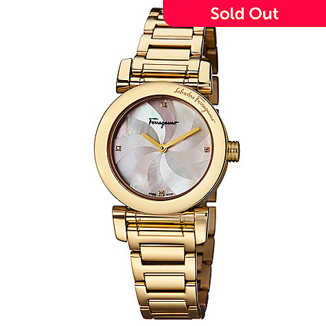 698ebdd554477 659-492- Salvatore Ferragamo Women's Lady Swiss Made Quartz Mother-of-Pearl