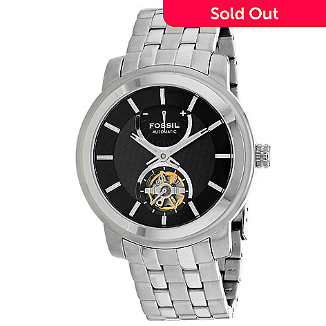 92a98a05f9 659-999- Fossil Men s 40mm Classic Automatic Open Heart Stainless Steel  Bracelet Watch