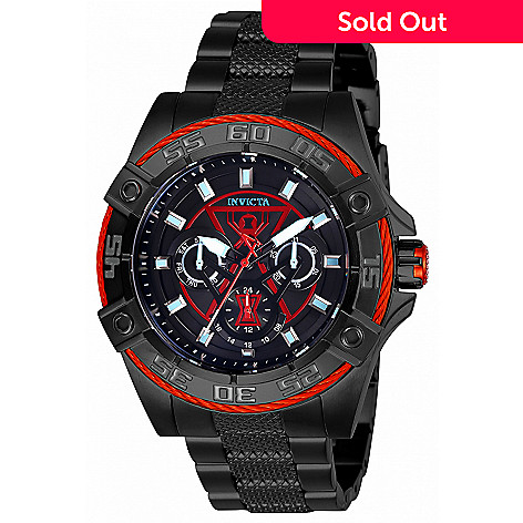 6ae4bd792 661-000- Invicta Marvel 45mm Black Widow Bolt Limited Edition Quartz  Stainless Steel Bracelet