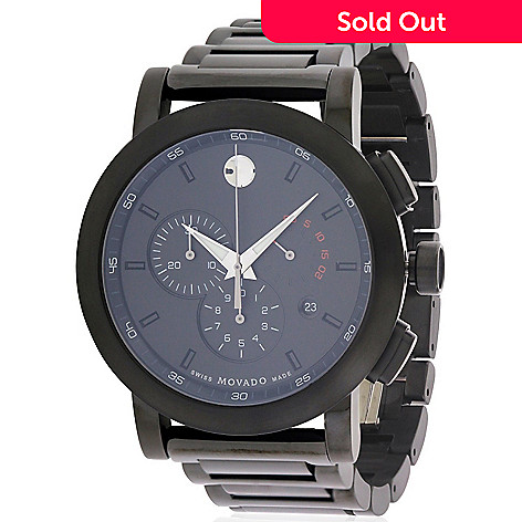 03788a472 661-575- Movado Men's 44mm Museum Sport Swiss Made Quartz Chronograph  Stainless Steel Bracelet