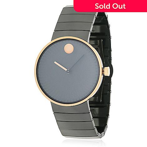 ada18ce18 661-598- Movado Women's Edge Swiss Made Quartz Black Stainless Steel  Bracelet Watch