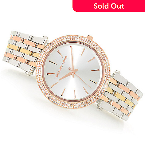 a25c902f5c5e 661-621- Michael Kors Women s Darci Quartz Crystal Accented Stainless Steel  Bracelet Watch