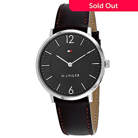 6f4f66228 662-279- Tommy Hilfiger Men's 40mm Sophisticated Sport Quartz Black Leather  Strap Watch