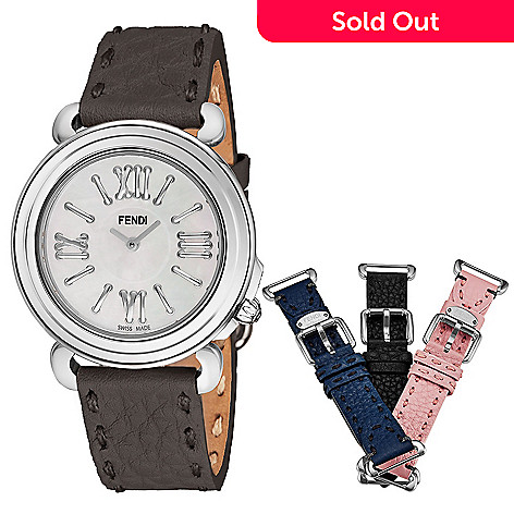 ec2c85af1346 Fendi Women s Selleria Swiss Made Quartz Mother-of-Pearl Dial Watch ...