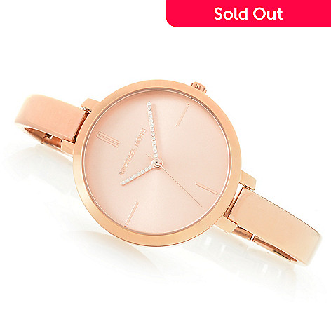 Michael Kors Women S Jaryn Quartz Crystal Accented Bracelet Watch