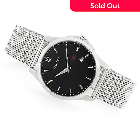 25a040bcb 663-272- Gucci 40mm G-Timeless Swiss Made Quartz Mesh Bracelet Stainless  Steel