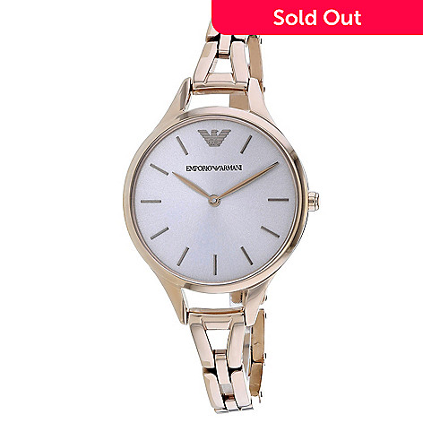 80a90f953c16 663-518- Armani Women s Dress Quartz Silver-tone Stainless Steel Bracelet  Watch
