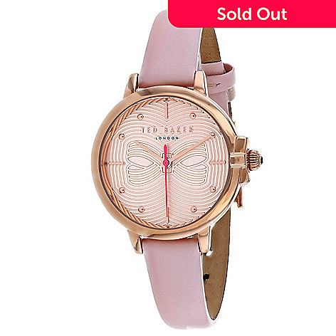 fa4b677c2 664-056- Ted Baker Women s Classic Quartz Pink Leather Strap Watch