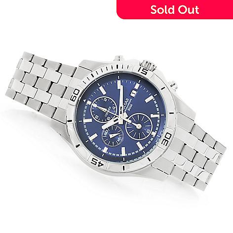 0a8ae4c84 664-288- Pulsar Men's 43mm Quartz Chronograph Stainless Steel Bracelet Watch