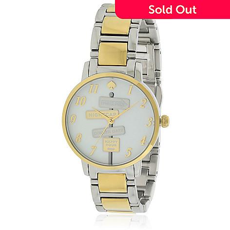 Kate Spade Women S Quartz Two Tone Stainless Steel Bracelet Watch