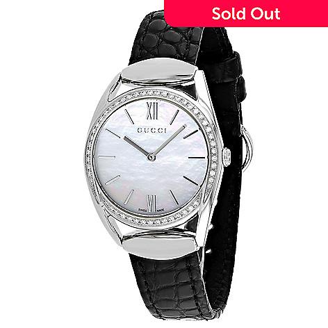 25369ad46b9 668-997- Gucci Women s Horsebit Swiss Made Quartz Diamond Accented Mother -of-