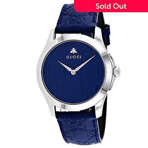 a2658914198 669-009- Gucci Men s 38mm G-Timeless Swiss Made Quartz Blue Leather Strap