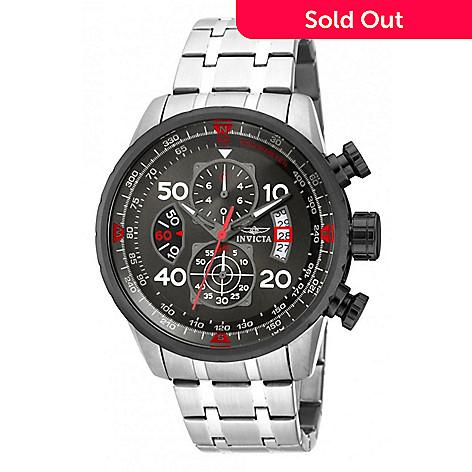b5320a816 669-883- Invicta 48mm Aviator Quartz Chronograph Bracelet Watch w/ 8-Slot