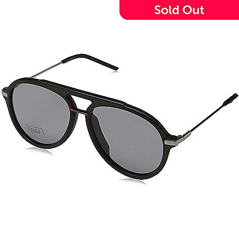f16f8250117d 670-132- Fendi Unisex 58mm Black Aviator Frame Sunglasses w/ Case