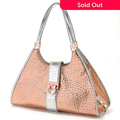 703 131 La Gioe Di Toscana Embossed Trim Pyramid Handbag