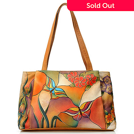 704 461 Chka Hand Painted Leather Large Per Handbag