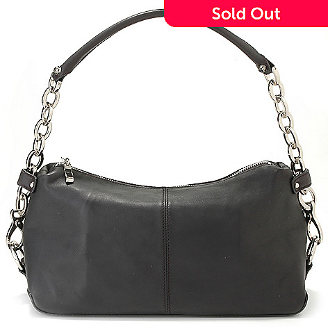 705 069 La Gioe Di Toscana Chain Detail Leather Hobo Handbag