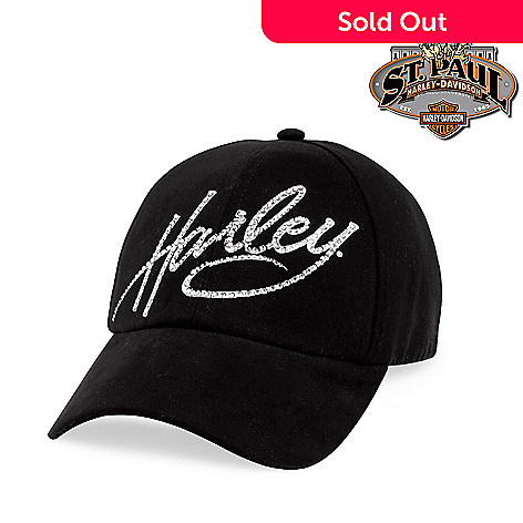 6a55a175a Harley-Davidson® Women's Crystal Harley Black Baseball Cap