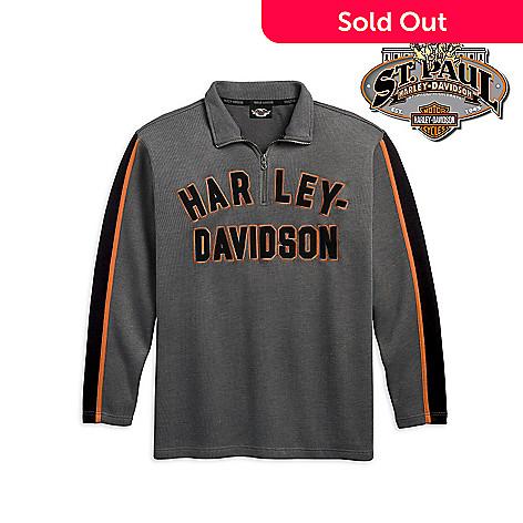 707 814 Harley Davidson Men S 4xl 1 4 Zip Long