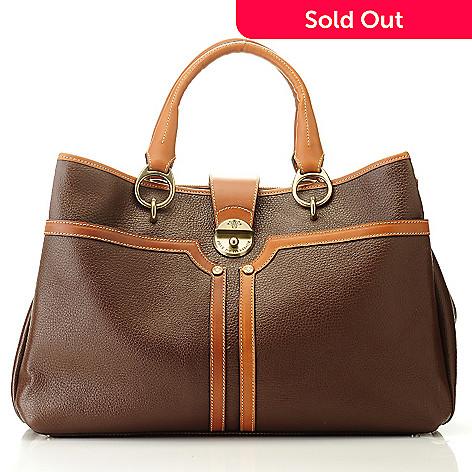 09b4b93e6344 709-932- PRIX DE DRESSAGE Leather Double Handle Tote Bag w/ Shoulder Strap