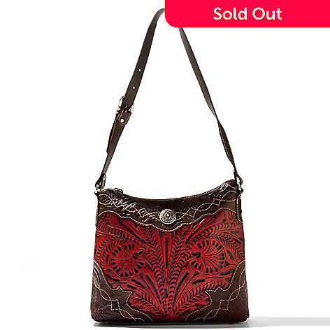710 251 American West Hand Tooled Leather Boot Sch Edging Shoulder Bag