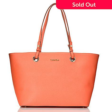 7597307c417 710-685- Calvin Klein Handbags Saffiano Leather East/West Medium Tote