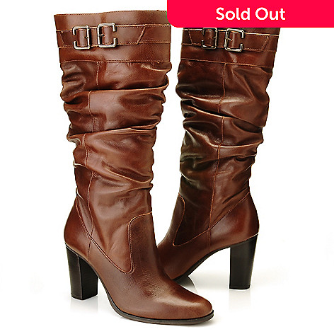 c57b9185bda Matisse Leather Buckle Detailed Slouchy Knee-High Dress Boots