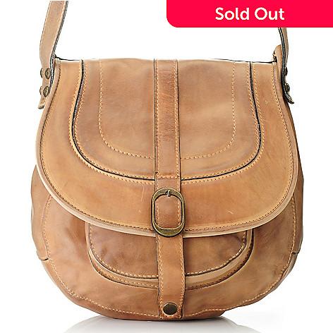 711 249 Patricia Nash Barcelona Leather Crossbody Saddle Bag