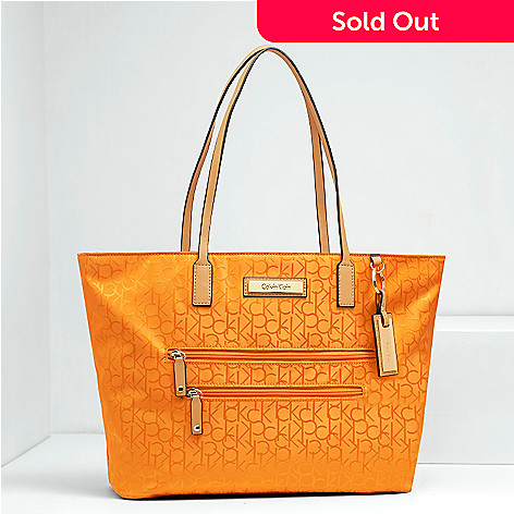 8c4c2ecba4 Calvin Klein Handbags Logo Nylon Jacquard East/West Tote - EVINE