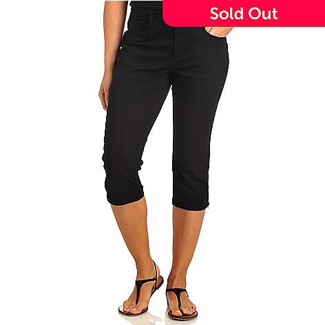 813e8b4983902a 712-162- Baccini Stretch Twill Five-Pocket Zip Hem Capri Pants