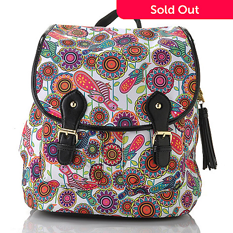 bdb6c97363 712-768- BollyDoll Printed Flap-over   Drawstring Backpack