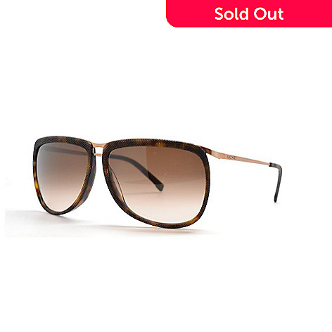 2a65b5d901 713-695- Lacoste Havana Brown   Gold-tone Sunglasses w  Case