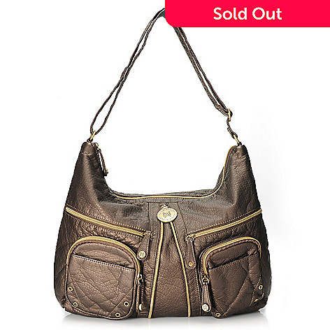 96f48287a4fc 713-707- Musen Albert Zipper Detailed Hobo Handbag