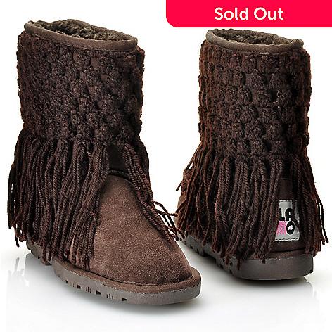 d978b493760 Lamo® Suede Leather & Sheepskin Crochet Sweater Cuff Boots