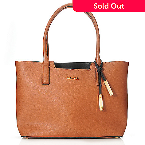 6350055d5c1 714-502- Calvin Klein Handbags Saffiano Leather Tote