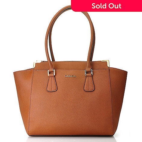 714 503 Calvin Klein Handbags Saffiano Leather East West Tote
