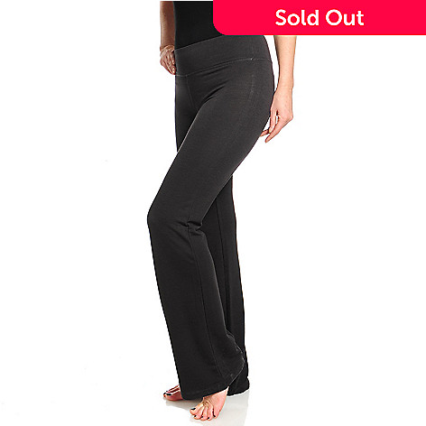 a599851219d7d 714-672- One World French Terry Wide Waistband Boot Leg Yoga Pants