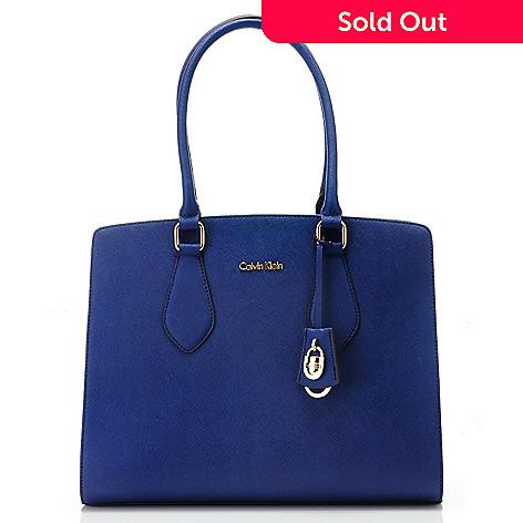 714 729 Calvin Klein Handbags Saffiano Leather Lock Satchel