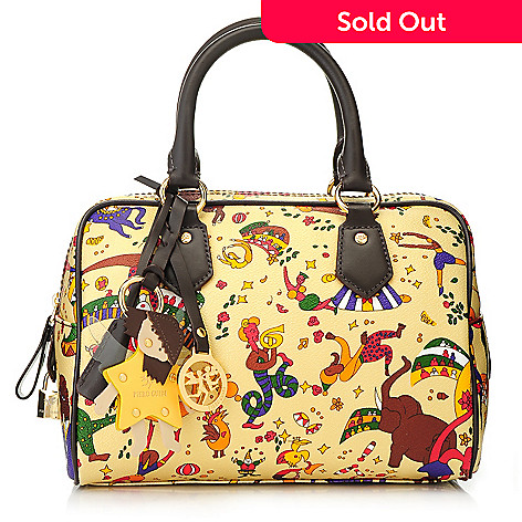 715-697- Piero Guidi Coated Canvas Magic Circus Collection Double Handle  Satchel 1f422430306