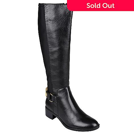 e6a6b5bb8a4 Steve Madden Women's Black Leather Riding Boots