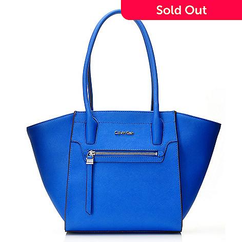 87f13f4849e 716-926- Calvin Klein Handbags Saffiano Leather Zipper Tote